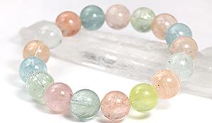 【ラスイチ】大玉ブレス(ミックスベリルAAA)12.5mm