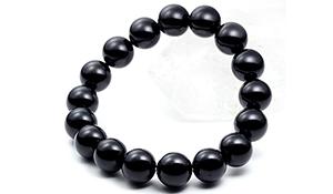 大玉ブレス(チベット産モリオン)12mm【鑑別書付き】-413