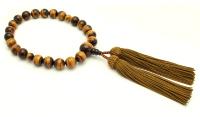 男性用片手略式念珠(タイガーアイAAA )