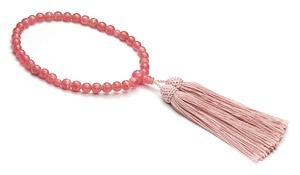 【ご褒美企画】女性用片手略式念珠(アルゼンチン産インカローズ)