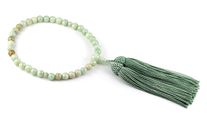 女性用片手略式念珠(ミャンマー産翡翠)