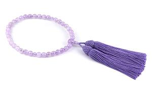 【大創業祭】女性用片手略式念珠(ラベンダーアメジスト)