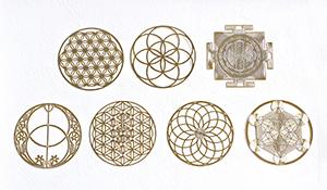 神聖幾何学プレート【7種類セット】