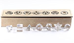 [★]神聖幾何学プラトン立体(ヒマラヤ・マニカラン産水晶)【箱付き】