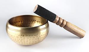 シンギング・ボール(ヒマラヤ産水晶サザレ100g付き)