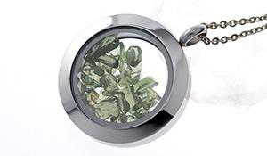 【隕石特集】デザインペンダント(モルダバイト[さざれ])約25mm※チェーン別売り